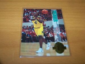 MICHIGAN WOLVERINES CHRIS WEBBER 1993-94 CLASSIC 4 SPORT #1 ROOKIE CARD RC