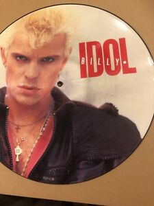 """BILLY IDOL- EYES WITHOUT A FACE  12""""  PICTURE DISC 1985 CHRYSALIS  IDOLP12  MINT"""