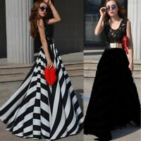 Women Summer Stripe Wedding Evening Party Dress Cocktail Beach Long Maxi Dress