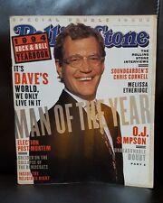 chris Cornell David Letterman Rolling Stone Magazine Issue #698/699 Dec 29,1994
