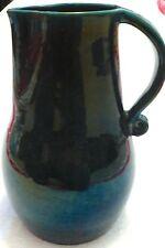 Anzengruber Austria Wien Österreich Krug groß grün irisierend um 1960 Keramik