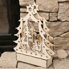 Wooden LED light glowing book for Christmas holiday decoration/Family decoration