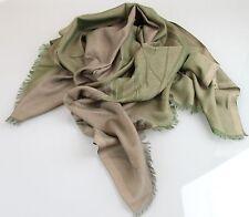 NEW Authentic Gucci Cotton/Silk Scarf Shawl w/Hysteria Print, Green, 255531 3267