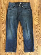 """7 Seven For All Mankind Mens Austyn Relaxed Straight Leg Denim Jeans 32"""" x 29.5"""""""