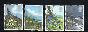 GREAT BRITAIN #855-858  1979  BRITISH WILD FLOWERS    MINT  VF NH  O.G