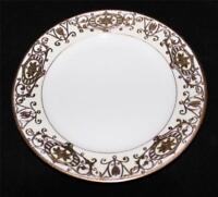 """Noritake 175 Christmas Ball Ornament Moriage, Gold Backstamp Salad Plate, 7 1/2"""""""