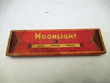 Vintage Pencil Box Advertising Moonlight Glass Marking Pencil Collectibles Rare*
