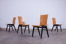 4x Plywood Industrial Stuhl Chair 50s60s Mid  Century Design Vintage