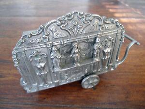 Silver - Sterling - ? Music box push cart