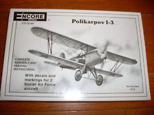 Encore : Polikarpov I-3 1/72