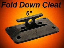 """(2) 6"""" Poly Nylon Boat Dock Safety Fold Down Cleat Seat Anchor"""