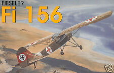 "Model Airplane Plans (FF): Fieseler Fi 156 Storch 1/12 Scale 47""ws for 1/2A"