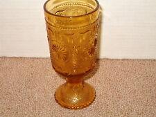 "VINTAGE BROCKWAY GLASS AMERICAN CONCORD PATTERN AMBER 6.5/"" Saucer"