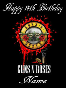 GUNS N ROSES  ICING  Edible CAKE TOPPER PARTY IMAGE FROSTING SHEET