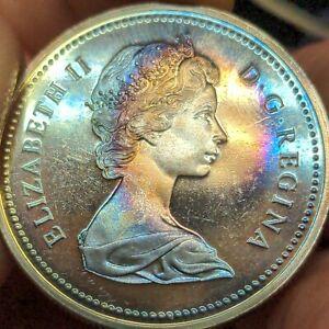 1971 Canada Silver Dollar Rainbow