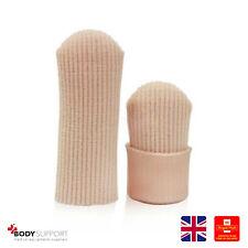Gorra De Silicona Suave Durable Dedo Toe Alivio del Dolor Protector Mangas Tubo Gel UK L