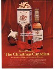 1969 WINDSOR Supreme Canadian Whiskey As Christmas Gift Vtg Print Ad