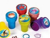 Pack of 6 - Plastic Sea Life Self Ink Stampers - Great Party Bag Fillers