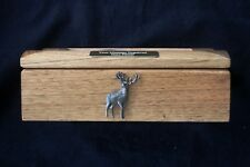 Standing Stag Oak Jewellery Box 6x4 Photo Window Personalised Engraving Gift