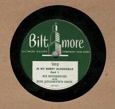 78 rpm Bix Beiderbecke with Jean Goldkette Merry Oldsmobile Biltmore 1012 in E