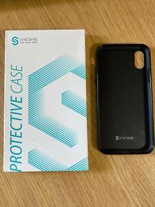 Syncwire iPhone X/XS Phone Cover Carbon Fibre Texture Design Slim Matte Black
