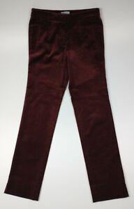 Jigsaw Wine Red Paris Velvet Trousers Size UK 6 EU 34 - BNWT RRP £130