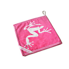Frogger Golf Wet and Dry Amphibian Towel Pink Brand New Towels Accessories