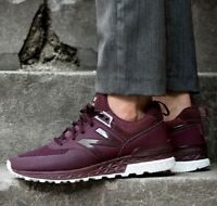 New Balance 574 Sport Hot Red Burgundy Sneakers Men's Lifestyle Comfy Shoes