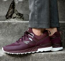 7a0714ccc67eb New Balance 574 Sport Hot Red Burgundy Sneakers Men's Lifestyle Shoes