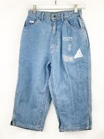 NEW Vintage Lee Jeans USA Mom 7 Small Cropped Blue Denim Jean High Rise Pants