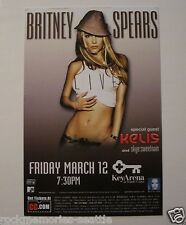 Britney Spears Original Concert Card two-side