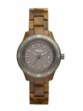Fossil Ladies Stella Mini - Wood Pattern Resin Band Tortoise Color Dial ES3091