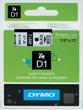 Dymo D1 (9mm) Gloss Tape (Black on White)