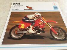 Carte moto Honda CR 500 Japauto HRC Lawson 1989 collection atlas motorcycle