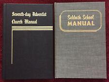 SDA Book Duo: Seventh-Day Adventist Church Manual ~ Sabbath School Manual HB