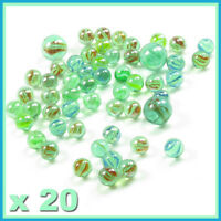 x 20 Green  Glass Bubble ,Glass marble, playing, fish tanks ,classic toy,SYD