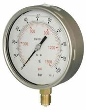 160mm Pressure Gauge - Industrial Glycerine Filled Bottom Entry 1% Acc