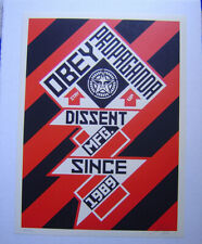 New listing Constructivist Banner 2010 Shepard Fairey Obey S/N of 350