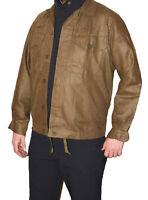 NEW Genuine Vintage Czech Army Surplus Working Prison Shirt Brown Blazer Jacket
