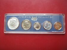USA US 1966 UNC 5 Coin Collection Special Mint Set Cent - Silver Half cased