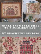 Shall I Compare Thee Summer Day? Blackbird Designs Cross Stitch Pattern Book