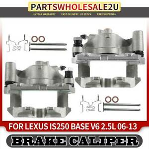 Set of 2 Front Driver and Passenger Side Brake Caliper Assembly Replacement for Lexus IS250 2009-2015 GS300 2006