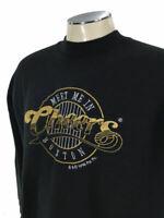 Cheers Crewneck Sweatshirt XL VTG 90s 1996 Black Boston Bar TV Show Mens 7919