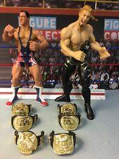 WWE Wrestling Jakks Trash Talkin Champions Kurt Angle Chris Jericho Figures Lot