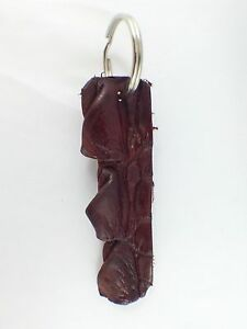 Genuine Australian Real Crocodile Leather Skin Keyring / Brown / NT Aus