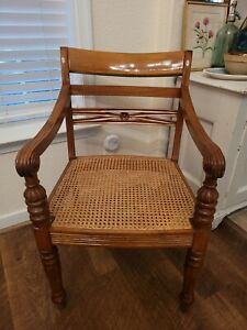 Vintage Regency Cane Bottom Accent CHAIR Armchair Free shipping