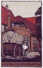 Ansichtskarte Itzehoe, Hinterm Klosterhof, Steindruck