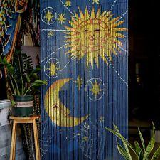 Sun Moon Beaded Bamboo Curtains Decor Panel Drape Window Office Divider Wall Art
