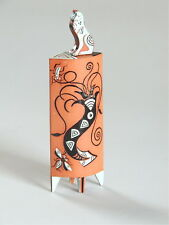 "Mariko Swisher contemporary ceramist, figurative, sculpted ""snuff bottle"""
