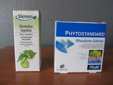 1 boite de Phytostandard de Rhodiole et Safran + Teinture mère de Houblon bio